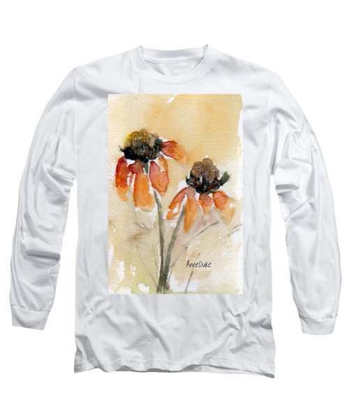 Summer Sunflowers Long Sleeve T-Shirt by Anne Duke