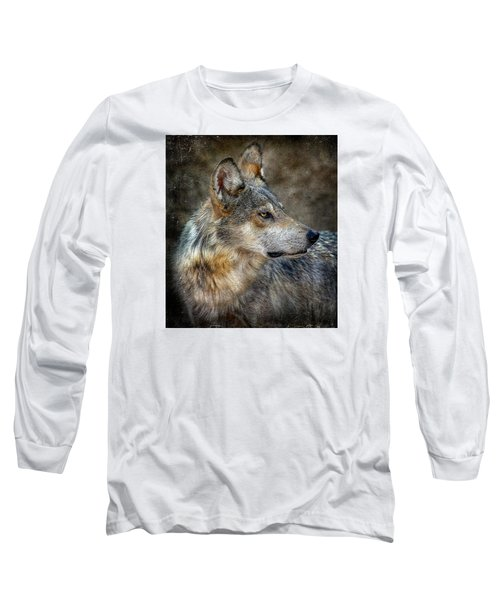Summertime Coated Wolf Long Sleeve T-Shirt by Elaine Malott