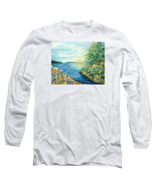Sun And Moon Long Sleeve T-Shirt by Holly Carmichael