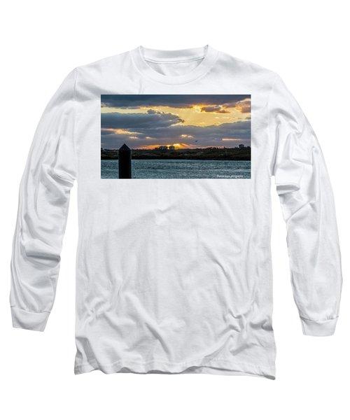 Sun Rays Over The Intracoastal  Long Sleeve T-Shirt by Nance Larson
