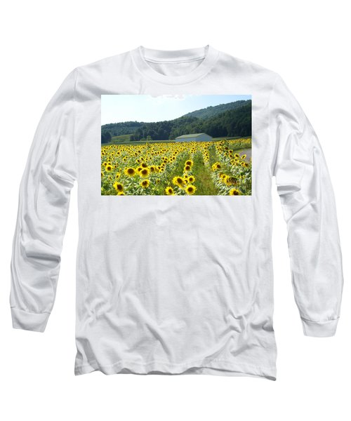 Sunflower Field Long Sleeve T-Shirt