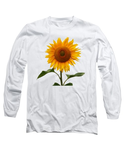 Sunflower On White Long Sleeve T-Shirt