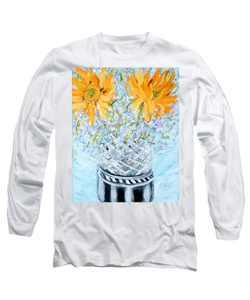 Sunflowers In A Vase. Painting Long Sleeve T-Shirt