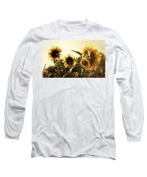 Sunflowers In Tone Long Sleeve T-Shirt