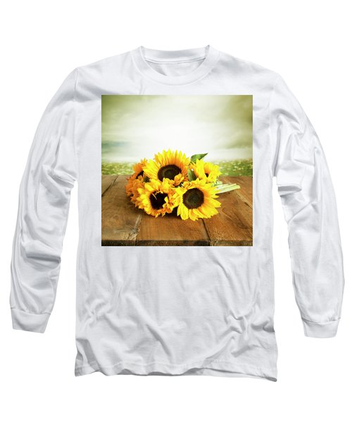 Sunflowers On A Table Long Sleeve T-Shirt