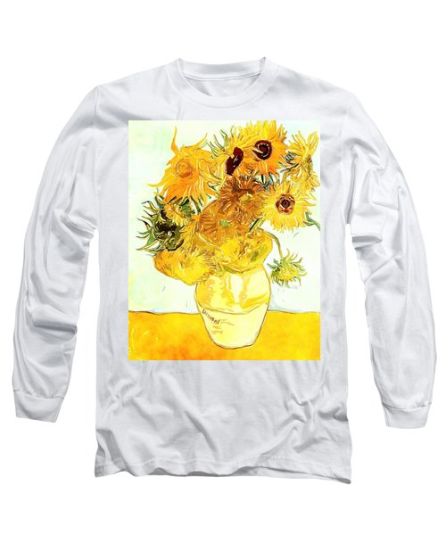 Sunflowers Van Gogh Long Sleeve T-Shirt