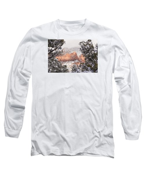 Long Sleeve T-Shirt featuring the photograph Sunlit Red by Laura Pratt