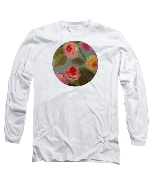 Sunlit Roses Long Sleeve T-Shirt by Mary Wolf