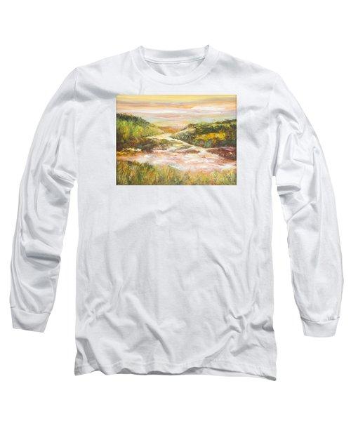 Sunlit Stream Long Sleeve T-Shirt by Glory Wood