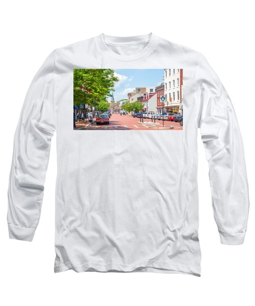 Long Sleeve T-Shirt featuring the photograph Sunny Day On Main by Charles Kraus