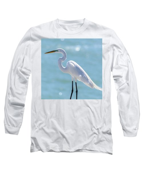 Long Sleeve T-Shirt featuring the photograph Sunny Egret by Steven Sparks