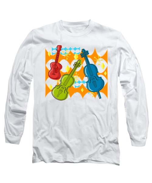 Sunny Grappelli String Jazz Trio Composition Long Sleeve T-Shirt