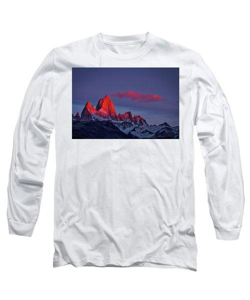 Sunrise At Fitz Roy #3 - Patagonia Long Sleeve T-Shirt