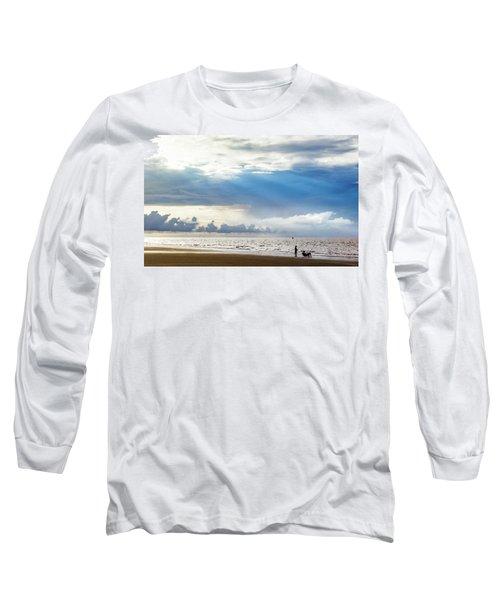 Sunrise Beach Fishing Long Sleeve T-Shirt