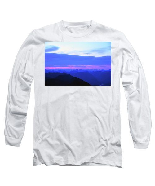 Sunrise From Pilchuck Summit Long Sleeve T-Shirt