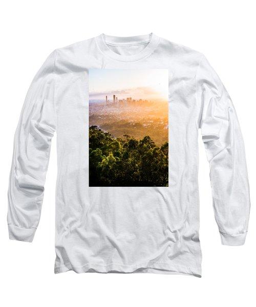 Sunrise Over Brisbane Long Sleeve T-Shirt by Parker Cunningham