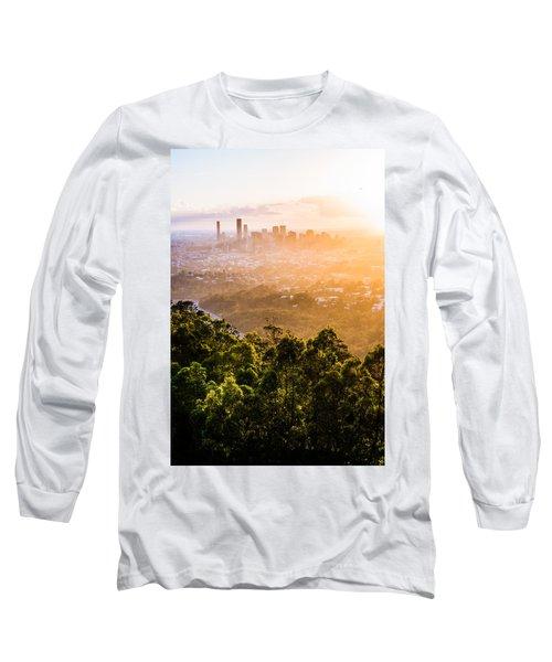 Sunrise Over Brisbane Long Sleeve T-Shirt