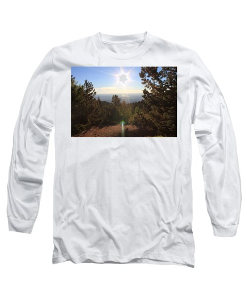 Sunrise Over Colorado Springs Long Sleeve T-Shirt by Christin Brodie