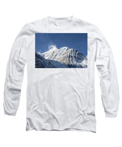 Sunrise Over The Gangapurna Peak At 7545m In The Himalayas In Ne Long Sleeve T-Shirt