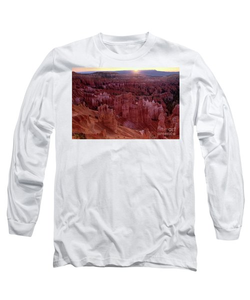 Sunrise Over The Hoodoos Bryce Canyon National Park Long Sleeve T-Shirt by Dave Welling