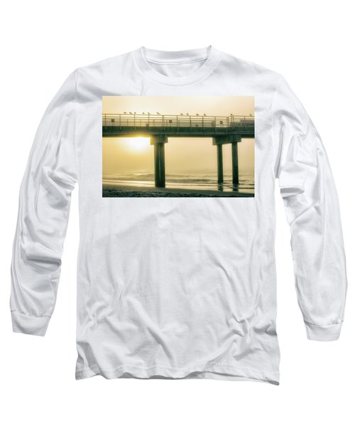 Long Sleeve T-Shirt featuring the photograph Sunrise Pier In Alabama  by John McGraw