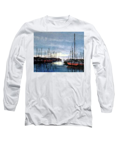 Long Sleeve T-Shirt featuring the painting Sunset At Apollo Beach by Janet King