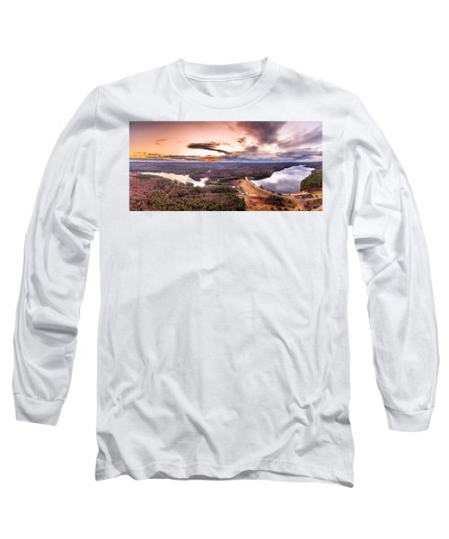 Sunset At Saville Dam - Barkhamsted Reservoir Connecticut Long Sleeve T-Shirt
