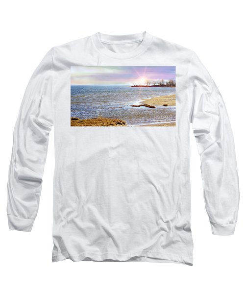Sunset At The Beach - Tod's Point Long Sleeve T-Shirt