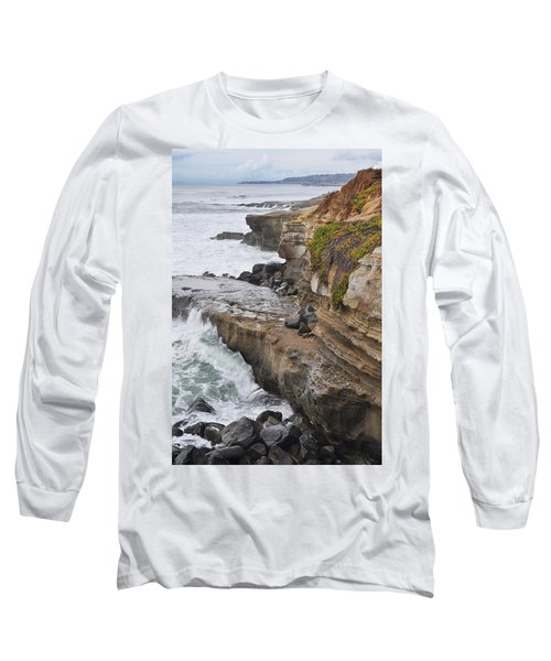Sunset Cliffs San Diego Portrait Long Sleeve T-Shirt