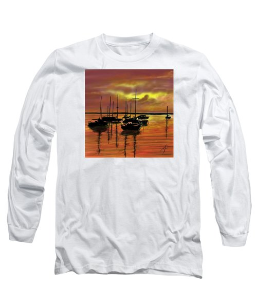 Sunset Long Sleeve T-Shirt by Darren Cannell