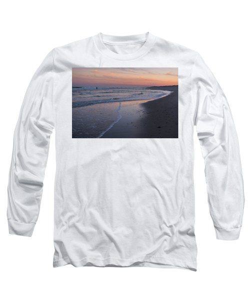 Long Sleeve T-Shirt featuring the photograph Sunset Fishing Seaside Park Nj by Terry DeLuco