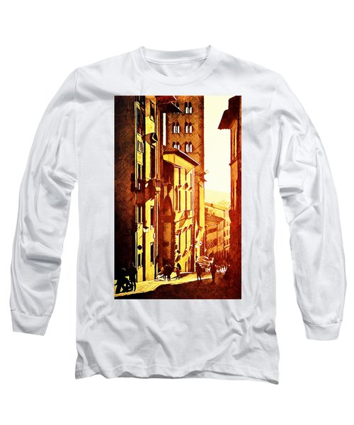 Sunset In Arezzo Long Sleeve T-Shirt by Andrea Barbieri