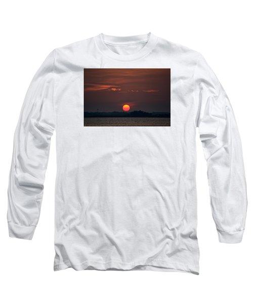 Sunset In Biloxi 2 Long Sleeve T-Shirt by Cathy Jourdan