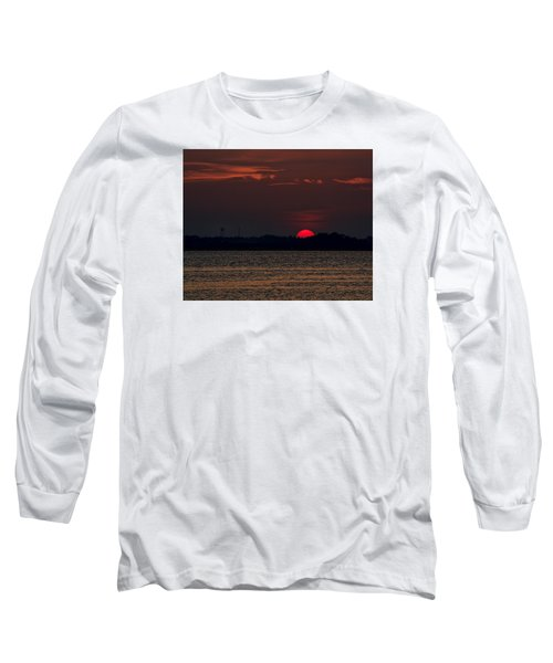 Sunset In Biloxi 3 Long Sleeve T-Shirt by Cathy Jourdan