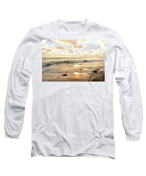 Sunset In Golden Tones Torrey Pines Natural Preserves #2 Long Sleeve T-Shirt by Heather Kirk