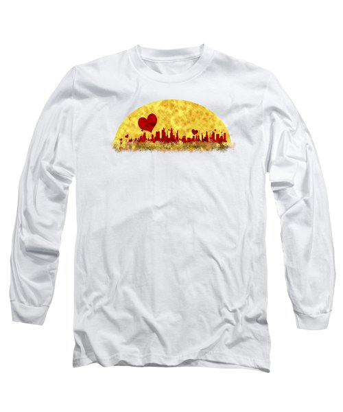 Sunset In The City Of Love Long Sleeve T-Shirt by Anton Kalinichev