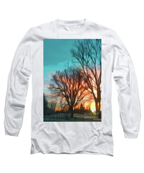 Sunset In The Country Long Sleeve T-Shirt