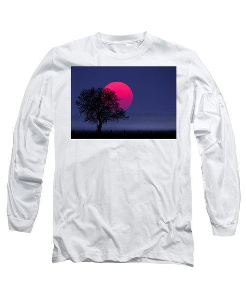 Sunset Magenta Long Sleeve T-Shirt