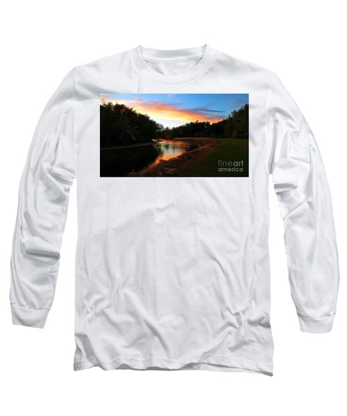 Sunset On Saco River Long Sleeve T-Shirt