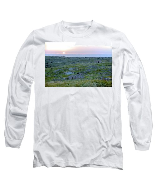 Sunset Over A 2000 Years Old Village Long Sleeve T-Shirt