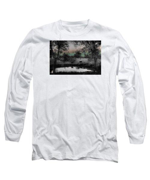 Sunset Over The Pond Long Sleeve T-Shirt by Karen McKenzie McAdoo