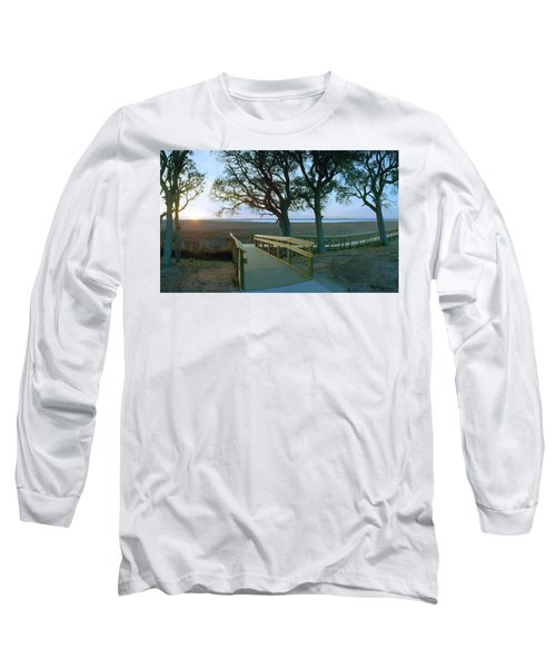 Sunset Over The Sound Long Sleeve T-Shirt by Jan W Faul