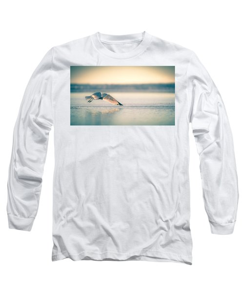 Sunset Seagull Takeoffs Long Sleeve T-Shirt
