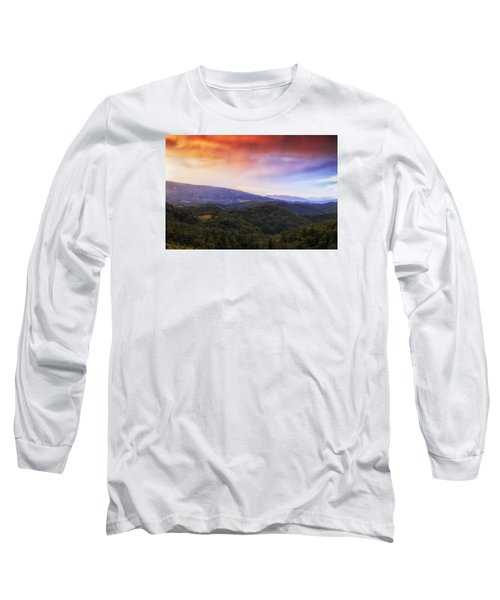 Long Sleeve T-Shirt featuring the photograph Sunset View Of The Blue Ridge by Andrew Soundarajan