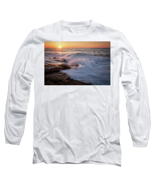 Sunset Waves Rockport Ma. Long Sleeve T-Shirt