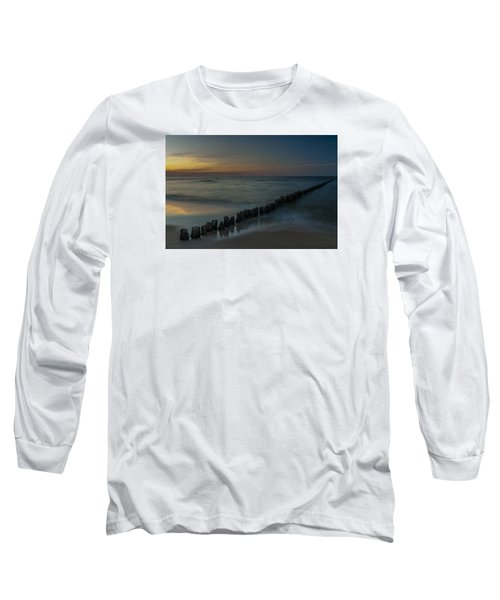 Long Sleeve T-Shirt featuring the photograph Sunset Zen Mood Seascape by Julis Simo