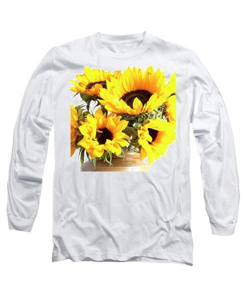 Sunshine Sunflowers Long Sleeve T-Shirt