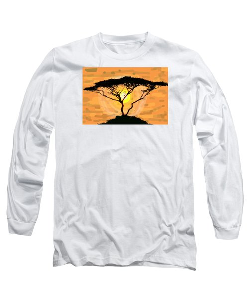 Long Sleeve T-Shirt featuring the painting Suntree by Patricia Arroyo