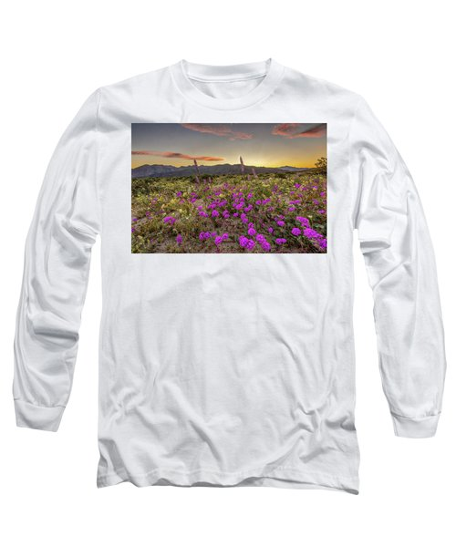 Long Sleeve T-Shirt featuring the photograph Super Bloom Sunset by Peter Tellone