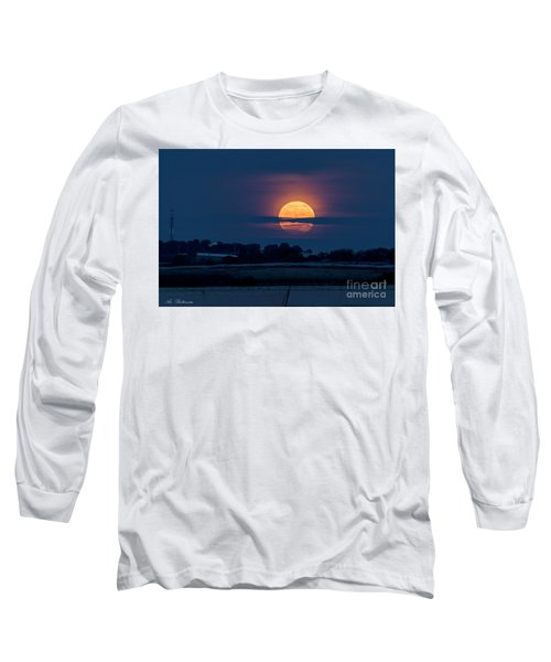 Long Sleeve T-Shirt featuring the photograph Super Moon by Arik Baltinester